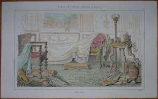 1851 print ROMAN FURNITURE, ANCIENT ROME (102)