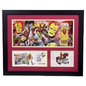 Marvel Iron Man framed litho with event cover Everything