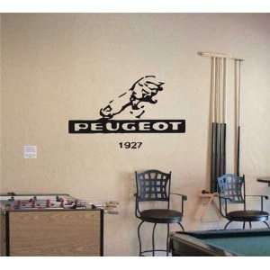 GARAGE WALL PEUGEOT 1927 LOGO DECAL STICKER ART 06 Home