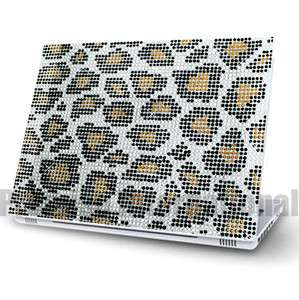 DIY Leopard Laptop Bling Rhinestone Crystal Sticker Skin Cover 13 14