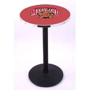 University of Maryland Terps Pub Table With Chrome Edge