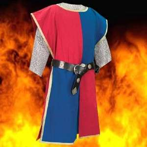 MEDIEVAL KNIGHT Mens Sleeveless Two Tone Colors TABBARD TUNIC with