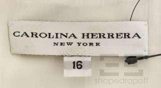 Carolina Herrera Red & Blue Floral Print Sheath Dress Size 16