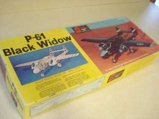 STERLING P 61 BLACK WIDOW MODEL AIRPLANE KIT **