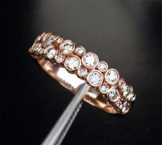DIAMOND    SOLID 14K ROSE GOLD WEDDING BAND ENGAGEMENT RING