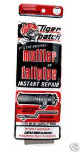 Tiger Patch Muffler or Tailpipe Repair Tape 20 minutes