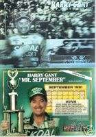 Harry Gant Mr September Silver HOLOGRAM PROTOTYPE CARD