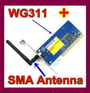 11b PCI wifi Adapter Card WG311 v3 NETGEAR for desktop PC win7