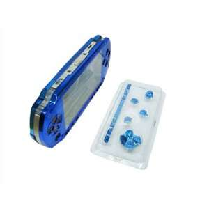 BLUE FRONT+BACK FACEPLATE & BUTTONS for PSP 1000: Video