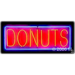 Neon Sign   Donuts, Logo   Large 13 x Grocery & Gourmet Food
