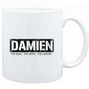 Mug White  Damien  THE MAN   THE MYTH   THE LEGEND  Male Names