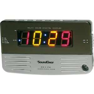 Soundgear Multi Color Digital Alarm Clock Radio Electronics