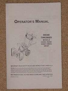 MTD SnowThrower 1999 Operator & Parts Manual List