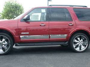 07 2011 Ford Expedition Body Side Rocker Panel Trim 4PC