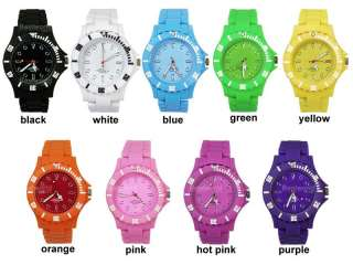 FASHION Celebrity Bright Colour Plastic Toy Watch Style