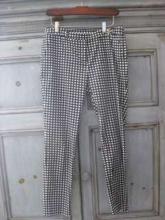 Tory Burch navy/white cropped pants size 6