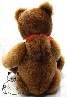 Teddy Bear 1950 Steiff Club 2001 Mohair Stuffed Animal Dark Brown