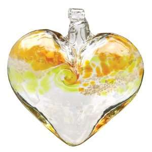 Catcher  HEART Ornament Gold Lime Green OR VGHE 03 GL