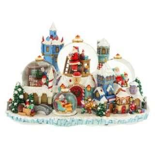 Christopher Radko North Pole Spectacular Christmas Snow Globe Santas