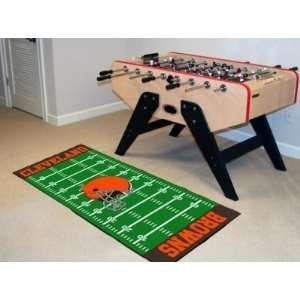 Cleveland Browns Football Field Runner Area Rug/Carpet