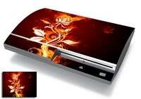 Skins Cover Sticker for Game System PS3 Black Flame