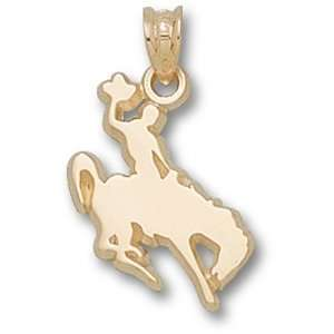 University of Wyoming Cowboy On Horse Pendant (Gold Plated