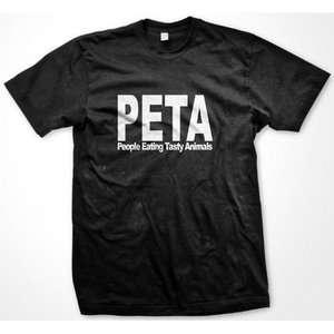PETA People Eating Tasty Animals Womens Ladies T Shirt Funny Food Tees