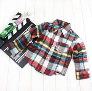 Boutique 3 Color Plaid Cotton Shirts Tops NWT Unisex