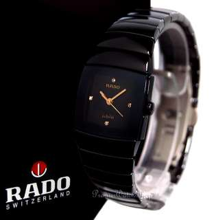 NEW RADO SINTRA JUBILE R13726712   BLACK CERAMIC LADIES DIAMOND WATCH