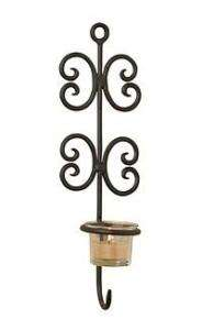LUCA BELLA MULTI   CHAIN WROUGHT IRON WALL SCONCE NEW!