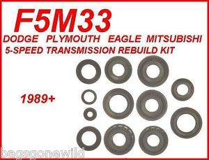 F5M33 5 SPD TRANS REBUILD KIT MITSUBISHI DODGE EAGLE