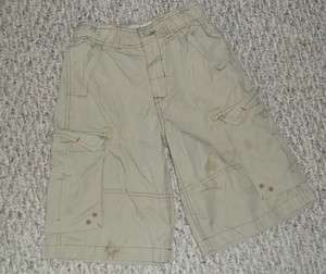 Boys sz.7 TCP Childrens Place Khaki Cargo Shorts Adj.Waist