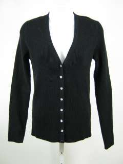 MICHAEL KORS Black Rhinestone Cardigan Sweater Sz L