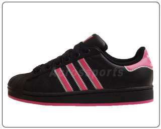 Adidas Superstar 2 II Women Black Pink Casual Shoes
