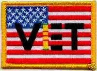 VIETNAM VET FLAG AMERICAN MOTORCYCLE JACKET BIKER PATCH