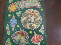 CHRISTMAS HOLOGRAPHIC WINDOW CLING