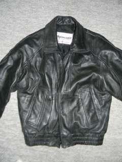 Black Saddlery MK IV Leather Bomber Flight Riding Jacket Coat Priced