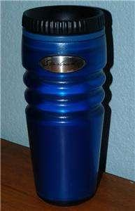 STARBUCKS COFFEE 16OZ COBALT BLUE TRAVEL TUMBLER MUG