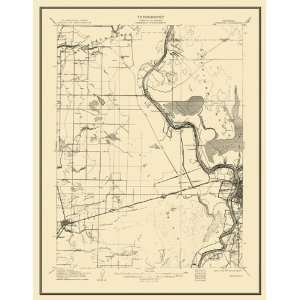 USGS TOPO MAP DAVISVILLE QUAD CALIFORNIA (CA) 1907