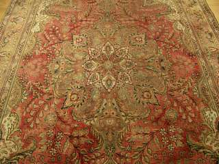 8x11 Handmade Muted Colors Antique Persian Tabriz Rug
