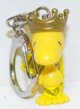 King Woodstock Figurine Keychain Mini key chain PEANUTS