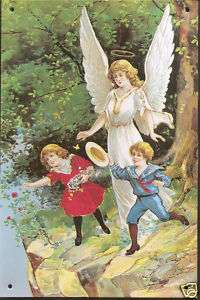 Guardian Angel Tin SIgn Home Accent 6 X 9