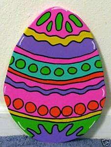 Small Vibrant Easter Egg Spring Yard Art Decoration