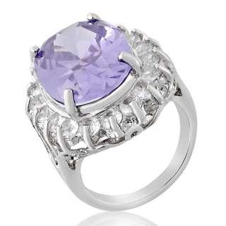 Jewelry 1x18mm Oval Cut Tanzanite Fine Clear Topaz Ring SZ O/7