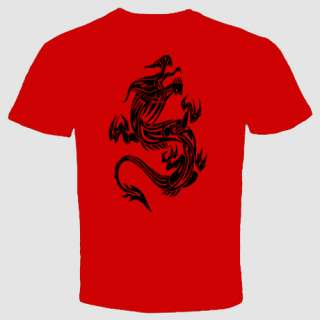 Dragon T shirt MMA UFC tattoo chinese asian symbol
