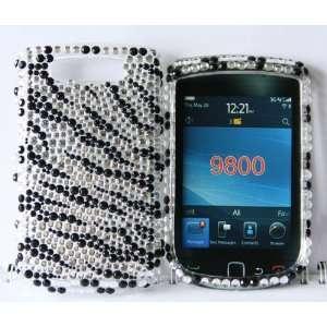 Ezmaret Blackberry Torch 9800 Rhinestone Bling Crystal Case Sliver