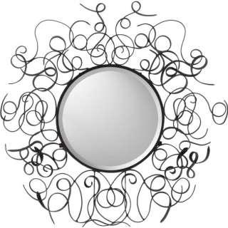 Candice Olson BRONZE METAL SCROLL WALL Mantle Mirror