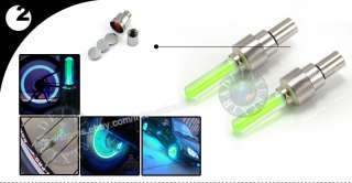 2x Motor Car Bike Tire Wheel Valve Cap Flash LED Light
