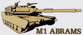 US ARMY M1 ABRAMS TANK STICKER   DECAL!!