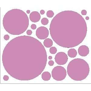 Peel and Stick Polka Dots Vinyl Wall Decor Removable Stickers Baby